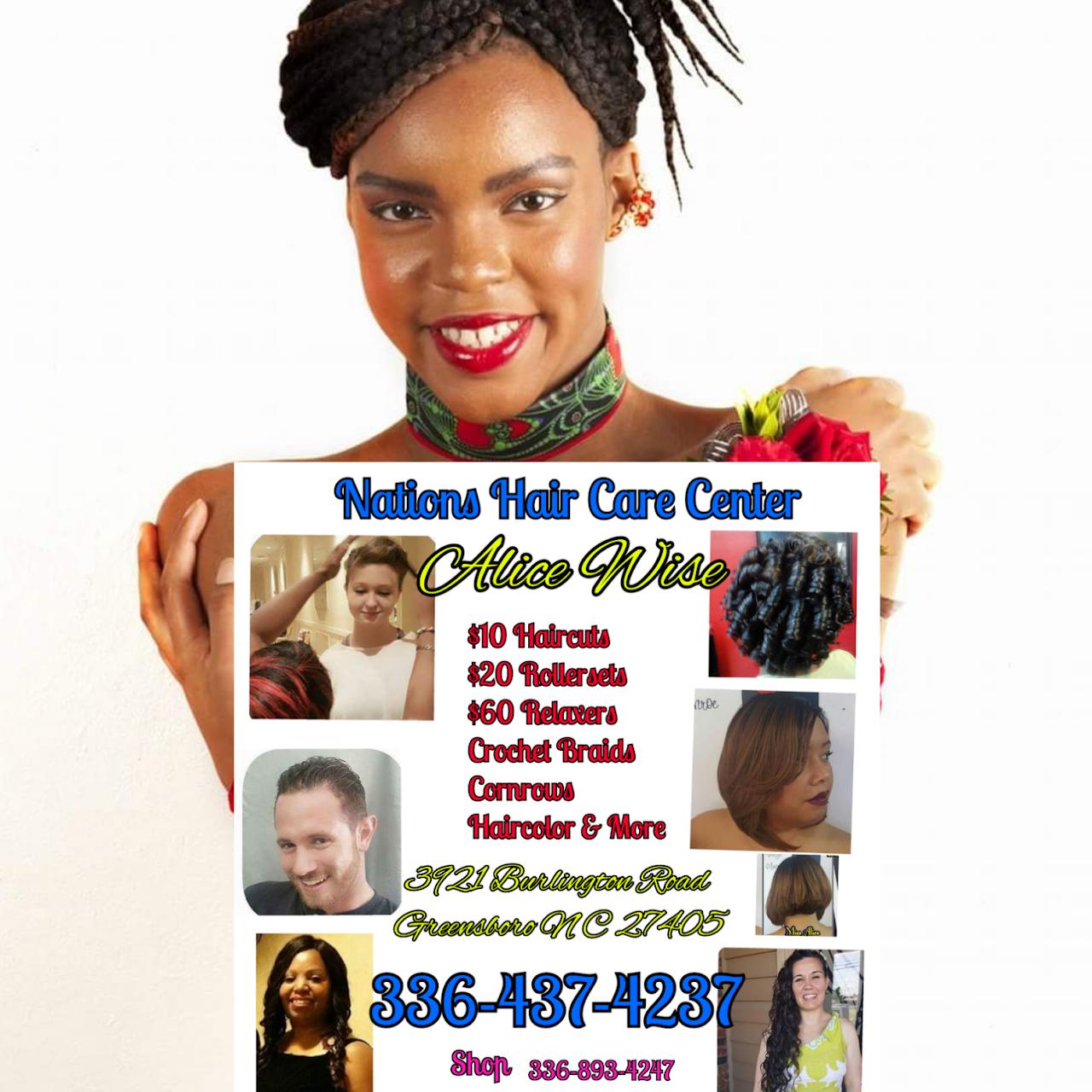 Nations Hair Care Center Hair Salon In Greensboro
