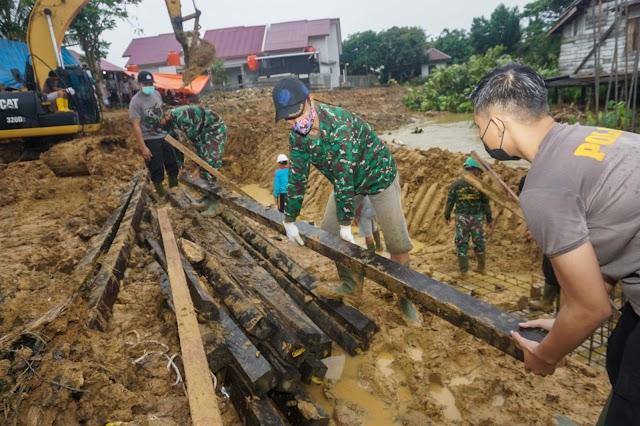 Sinergitas TNI-POLRI Terlihat di Lokasi TMMD Ke 112 Kodim 0908/Bontang