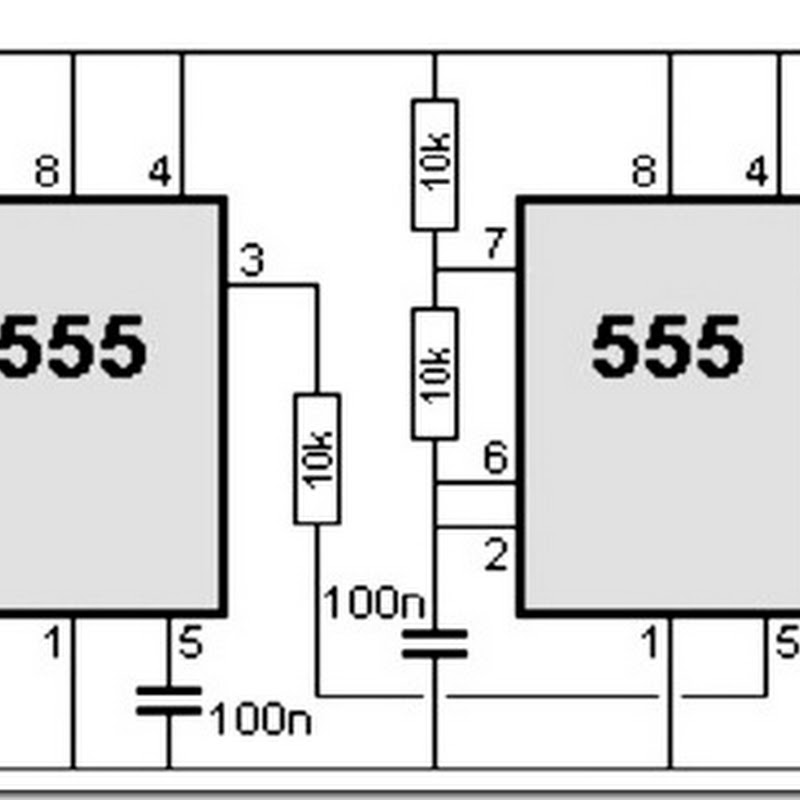 555 Timer Circuit Diagram Police Siren | Simple Schematic Collection