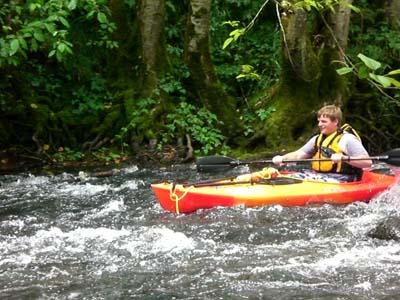 New ASM in his kayak