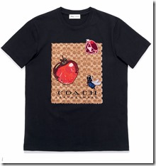 Dark Disney Sig C Apple Applique T-Shirt in Black (34205Blk)