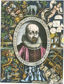 Emblematic Portrait Engraving Of J Baptista Della Porta, Alchemical And Hermetic Emblems 2