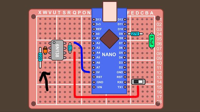 Synth build guide MIDI circuit 12