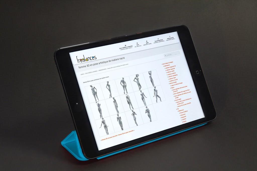 capture écran pour tablettes sublimer présentation responsive web design conception site web adaptatif iPad