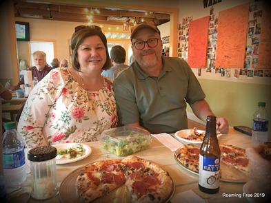 Dinner at Copperwood Pizza