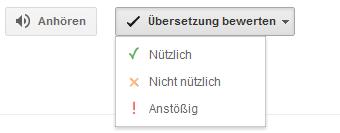 Translate bewerten