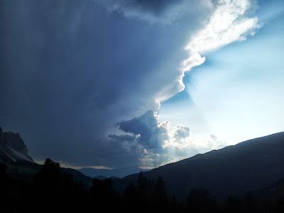 Gewitterstimmung in den Dolomiten
