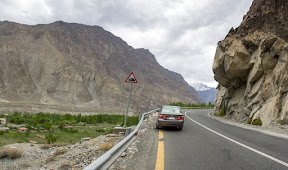 The landscape changes when you enter in Gilgit-Baltistan region