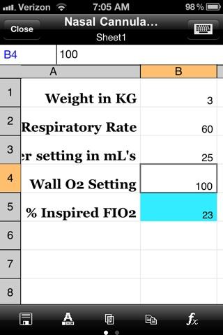 All Things Nicu Nasal Cannula O2 Calculator