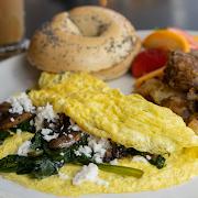 Spinach, Feta & Mushroom Omelette