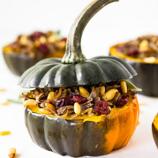 Stuffed Acorn Squash with Wild Rice and Cranberries Recipe