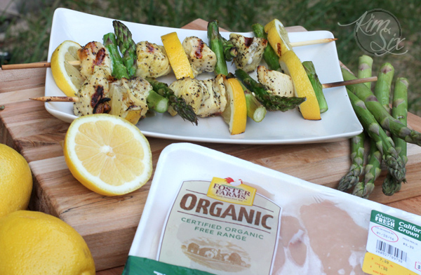 Lemon and asparagus chicken grilled