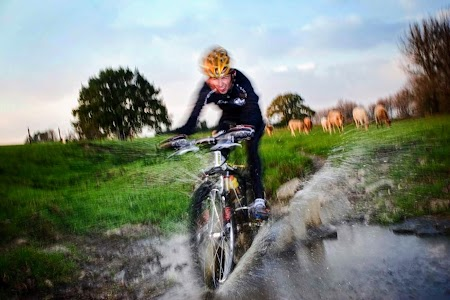 Mountainbiker in Limburg
