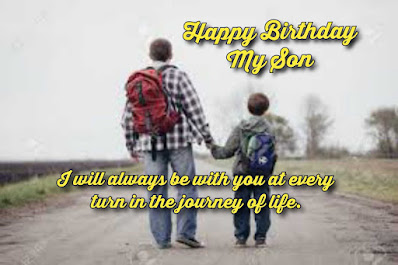 Father travelling with son, Happy birthday quotes for kids.