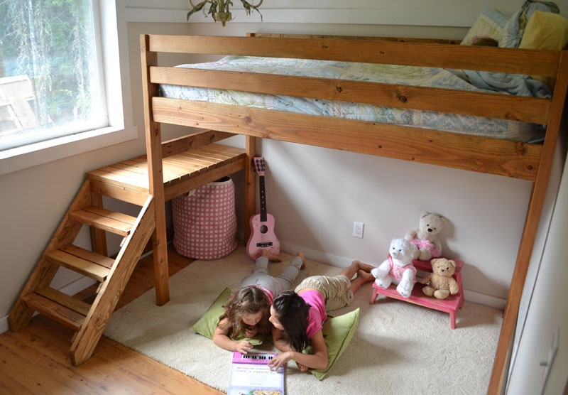 diy loft bed plans for kids