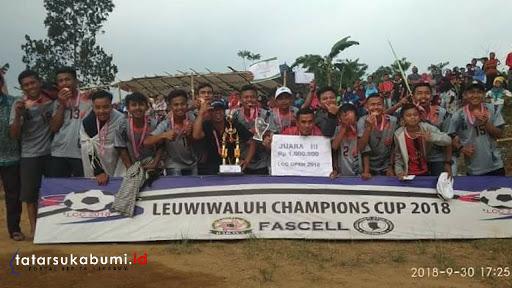 Keseruan Kejuaraan Sepak Bola Leuwi Waluh Champion Cup