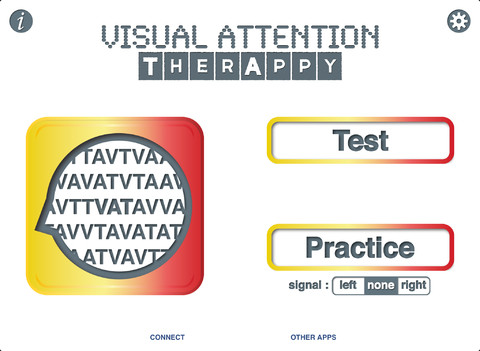 Visual Attention TherAppy Main Page