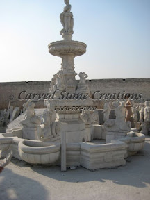 carved stone, Estate, Fountain, Ideas, Natural Stone, Pool, Statuary, Statues, Surround, Tiered