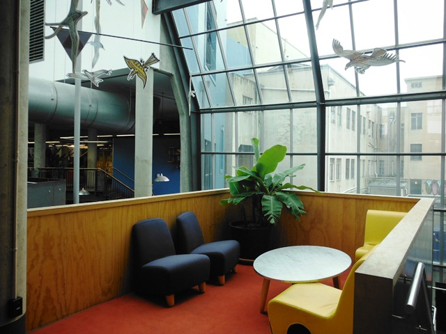 Open Air Meeting Space: Note Backs of Buildings