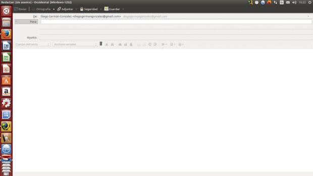La nueva interfaz de Thunderbird en Ubuntu