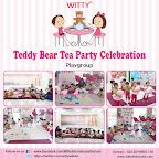Celebration of Teddy Bear's Birthday Tea-party by Playgroup Section at Witty World, Bangur Nagar (2018-19)