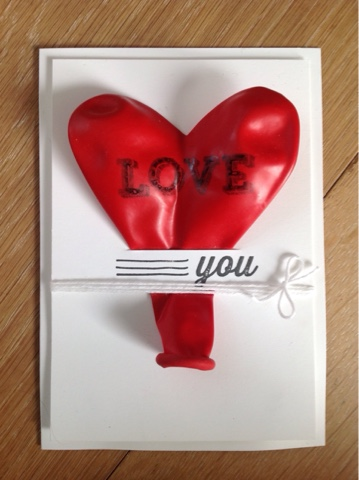 Stampin up Ballon bestempeln
