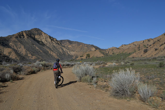 flat road in wide canyon