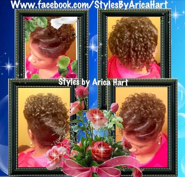 Updo hairstyles for black women, spiral curl #hairstyle, curly hairstyle s african american