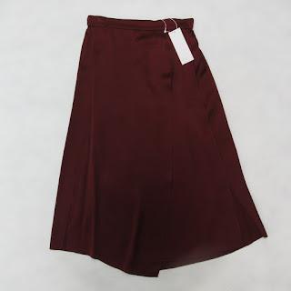 Vince. NEW Silk Merlot Skirt