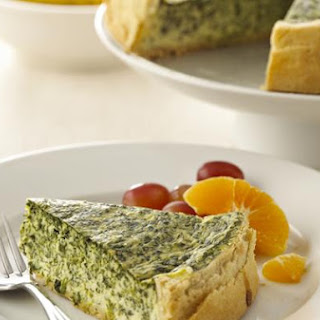 Chavrie Spinach Quiche.