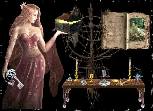 Witch And Old Books, Pretty Witches
