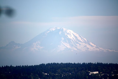 Mount Rainier as seen from Seattle Washington