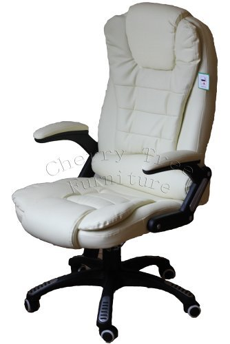 Exectuve Recling Extrapadded Cream Color Office Chair