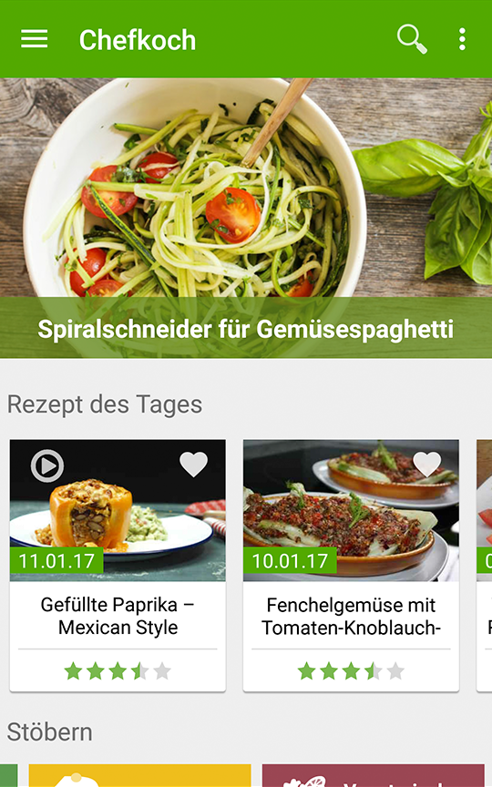 chefkoch rezepte kochen android apps auf google play. Black Bedroom Furniture Sets. Home Design Ideas