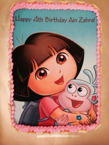 CAKE CUPBOARD: Dora Explorer cake - edible image