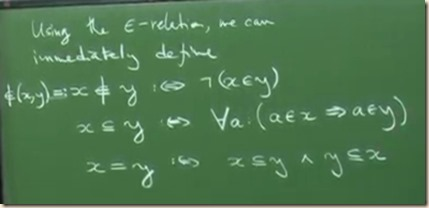 physics set theory axioms set 1
