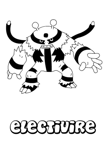 Electivire Pokemon Coloring Page