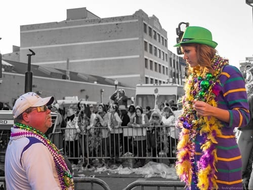 Girl in Mardi Gras Outfit New Orleans