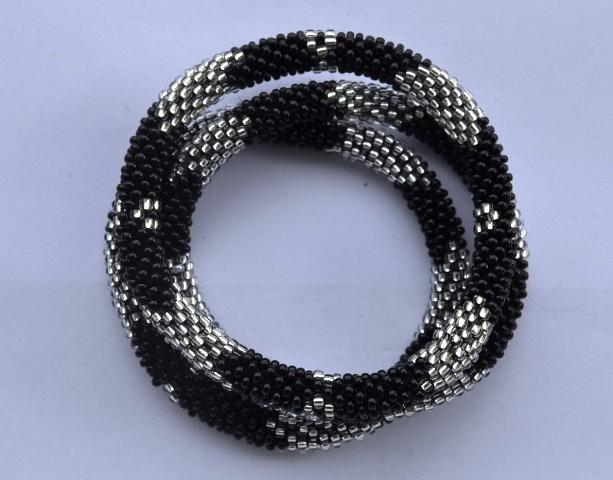Roll Over Nepal Bead Bracelets