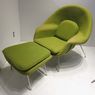 Green Chair and Ottoman