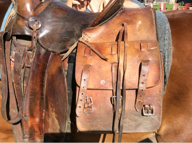 Leather Saddle Bags For Riders And Horses
