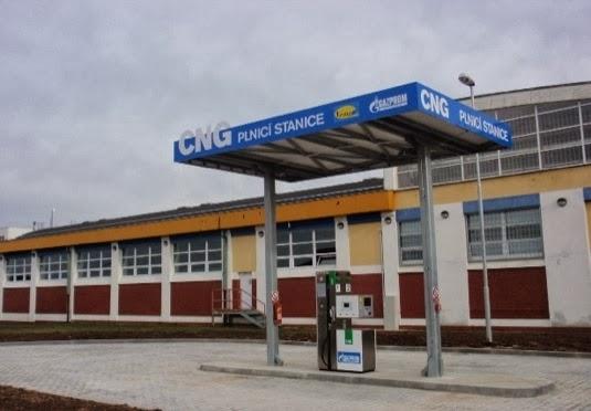 Plzen. Stacja CNG Gazprom Germania i Vemex