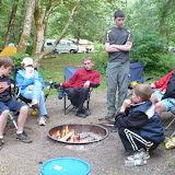 Hanging out at camp
