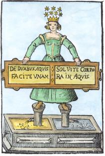 From J J Becher Tripus Hermeticus Fatidicus, Alchemical And Hermetic Emblems 2