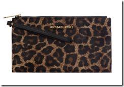 Michael Michael Kors Bedford Leopard print clutch