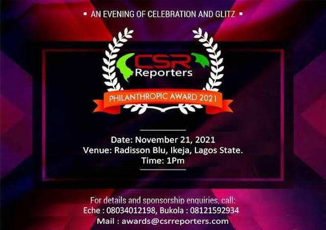 CSR REPORTERS Magazine to Honor Governors Sanwo Olu, Sani Bello, FirstBank, Others with Philanthropy, Social Impact Awards ~Omonaijablog