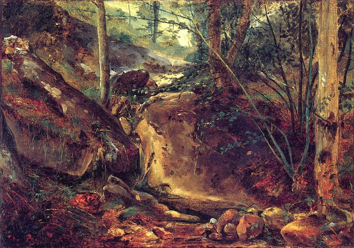 Théodore Rousseau - Mountain Stream in the Auverne