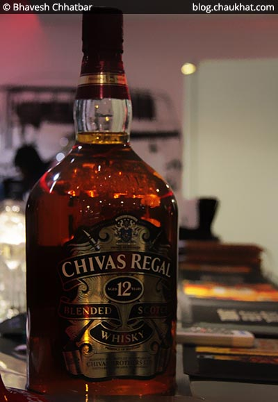 Chivas Regal Blended Scotch Whiskey bottle at Koregaon Park in Pune