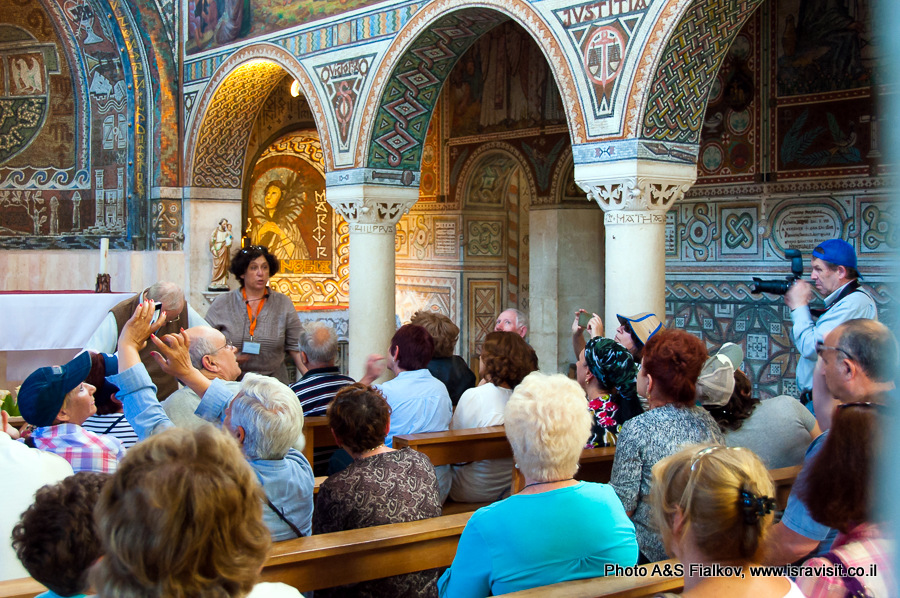 Церковь монастыря в Бейт Джамаль. Экскурсия гида Светланы Фиалковой.