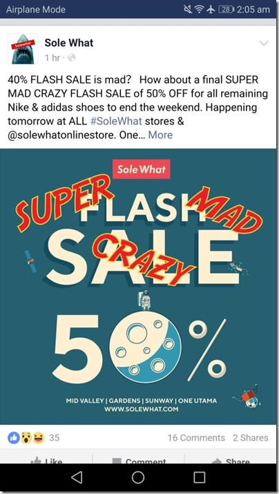 SoleWhat Flash Sales
